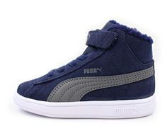 Puma Smash Fur vintersneaker peacoat iron gate